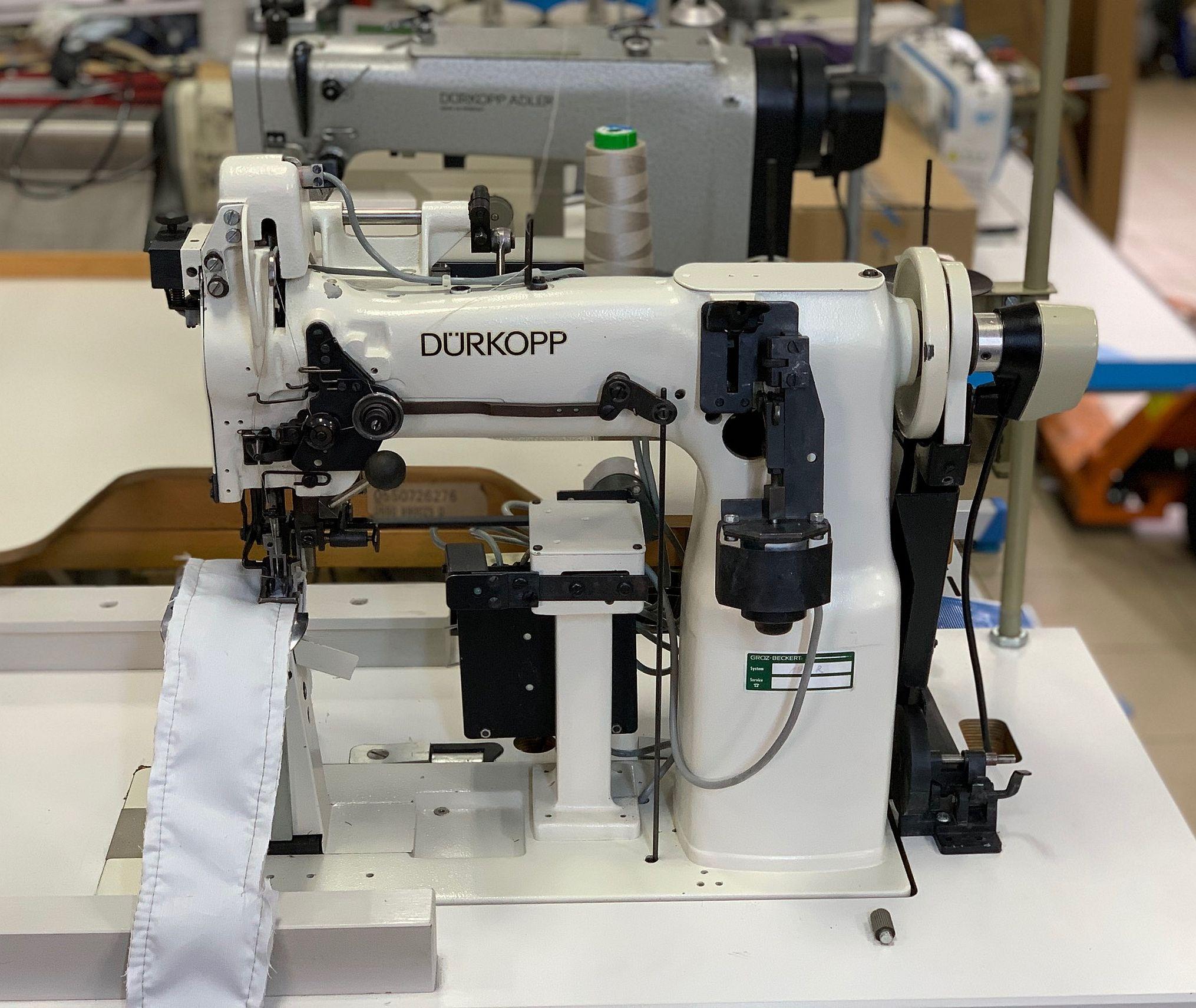 Masina de cusut liniar cu cutit de rihtuit DURKOPP 867